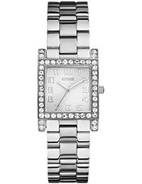eb97eec9acd0 Guess W0128L1 - Reloj analógico de cuarzo para mujer con correa de acero  inoxidable