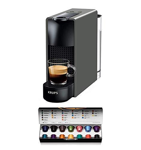 Nespresso XN110B Krups Essenza Mini - Cafetera monodosis de cápsulas Nespresso, compacta, 19 bares, apagado automático, color gris