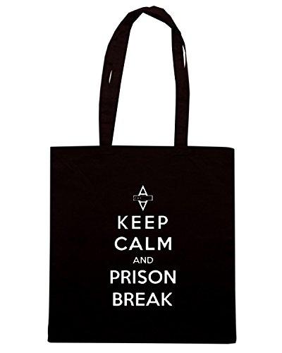 T-Shirtshock - Borsa Shopping WC0430 Keep Calm And Prison Break Nero