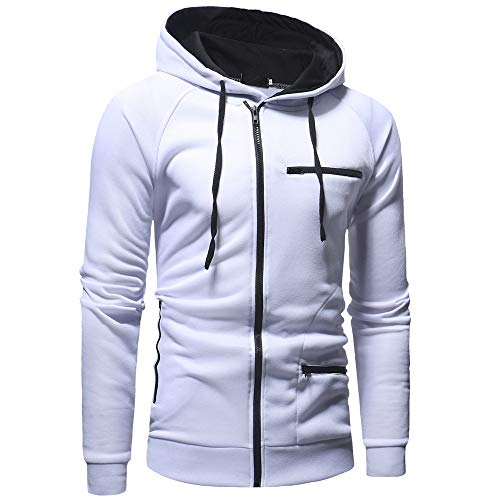 MIRRAY Herren Herbst Casual Solid Langarm Zipper Hoodie Sweatshirt Top Outwear