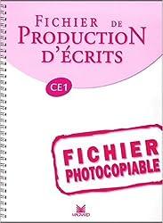 Fichier production d'écrits, CE 1