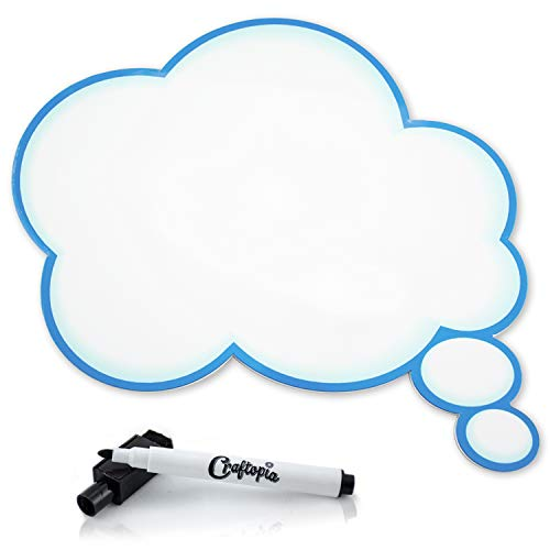 PVC Dry Erase Bubble Foto Booth Prop Blue Thought Bubble weiß/blau (Photo Strike Pose Booth A)