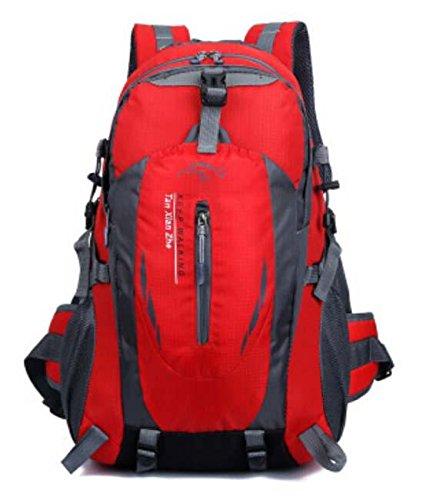 Borsa a tracolla bottiglia d'acqua da uomini e donne equitazione alpinismo zaino borsa impermeabile sport outdoor multi-funzione , orange Red