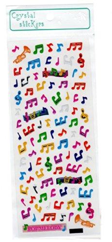 Crystal-Stickers-Musik-Themen-Kleine-Bunte-musikalische-Anmerkungen