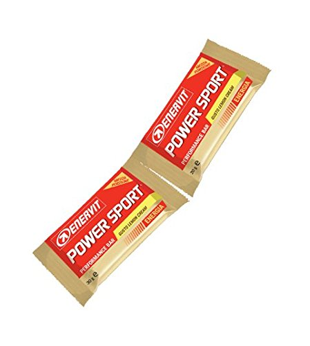 Enervit power sport performance bar in due mezze porzioni box da 28 x 60 g. gusto lemon cream