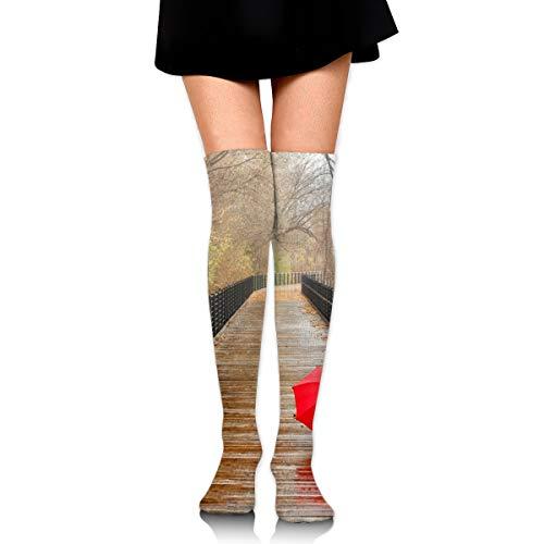 Billig Childrens Fancy Dress - rouxf Knielange Socken Red Umbrella