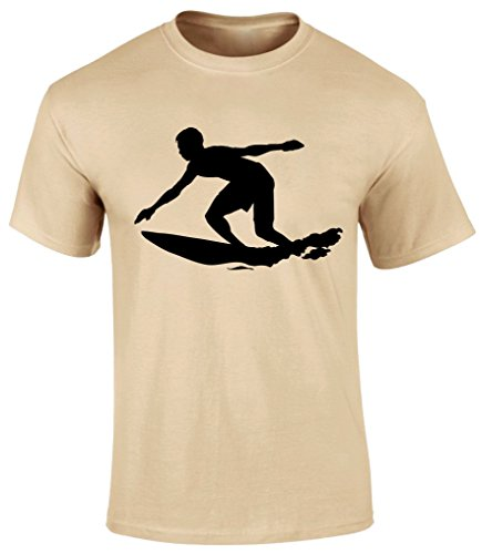 Surfing Surfer Graphic Sports Holidays Hobby Sea Beach Game Men T-shirt - Grey, Sky Blue or Beige Colour Men T shirt