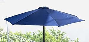 Hexagonal Garden Terrace 280cm parasol with crank