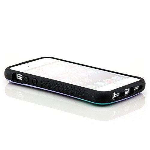 Saxonia. Saxonia Coque de protection arrière rigide Avec motif Pour Apple iPhone 5 5S Fuck off / England Blätter violett