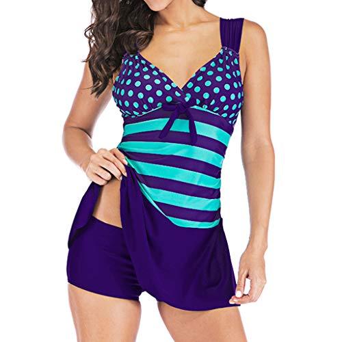 OverDose Damen Damen Blumig Einteilig Braun 20 - Purple - XL D-blau