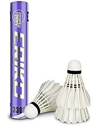 Avanzado Ganso Pluma Bádminton, LYlife 12 Piezas de Alta Calidad Volantes de Bádminton Interior de Entrenamiento de Deportes al Aire Libre Badminton Bolas con Gran Estabilidad y Durabilidad