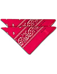 fashionchimp ® Nicki-Halstuch aus 100% Baumwolle im 2er Set, Unisex Bandana, AZO-Frei