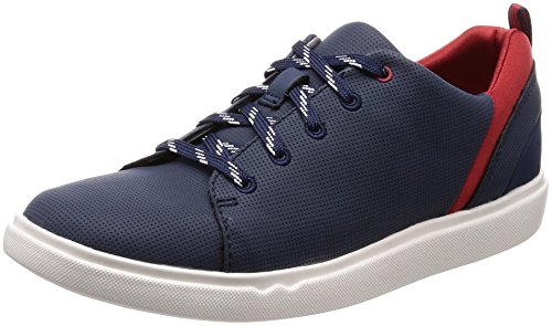 Clarks Step Verve Lo, Sneakers Basses Femme Bleu (Navy)