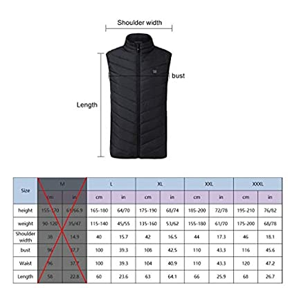 Freefa Electric Heated Vest USB Lightweight Size Right 5 Heating Zones Water Wind Resistant with Touchscreen Glove 7