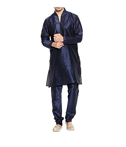 Royal-Mens-Maroon-Silk-Blend-Occassional-Wear-Loopbutton-Kurta-Set