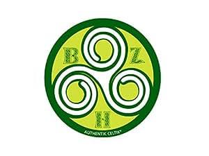 Autocollant breton triskell vert celtique