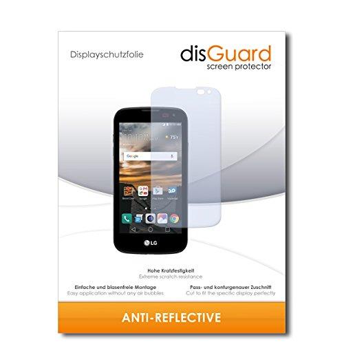 disGuard® Bildschirmschutzfolie [Anti-Reflex] kompatibel mit LG K3 [2 Stück] Entspiegelnd, Matt, Antireflektierend, Extrem Kratzfest, Anti-Fingerabdruck - Panzerglas Folie, Schutzfolie