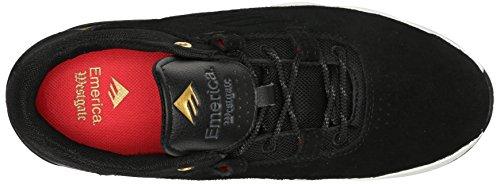 Emerica The Brandon Westgate, Chaussures de skateboard homme Noir (Black White Gold 715)