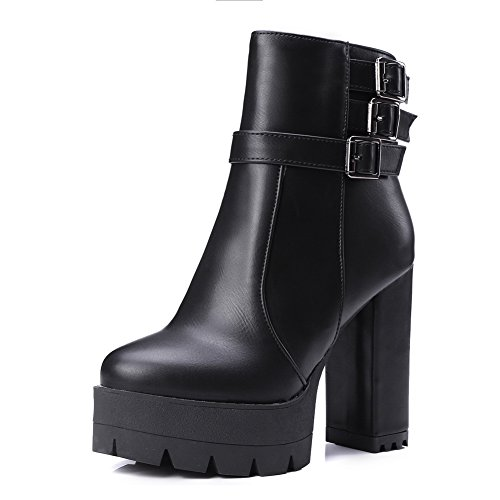 1to9 - Chaussures Plateforme Femme Noires