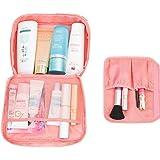 السيدات السفر النساء حقيبة ماكياج منظم حقيبة مستحضرات التجميل حقيبة أدوات الزينة السفر مجموعات التجميل حقيبة تخزين بسعة كبيرة