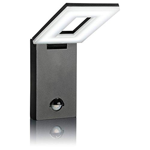 SEBSON® LED Aussenleuchte mit Bewegungsmelder, Wandleuchte, schwarz, Aluminium,10W, 650lm, kaltweiß 6500K, schwenkbar, IP54, Außenwandleuchte