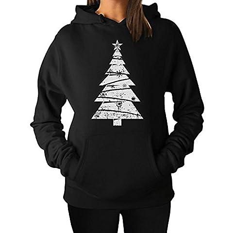 ZMvise Big White Distressed Christmas Tree Xmas Gift Idea Funny unisex - mädchen, junge männer frauen kapuzenpulli sweatshirts
