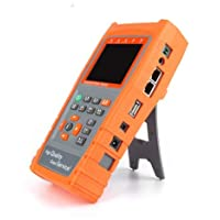 "YXMSCMULTITEC UTP Cable Tester 3.5"" LCD CVBS CCTV Tester Monitor AHD Camera Testing PZ Control Address Scan Data Monitoring RS485 Flashlight"