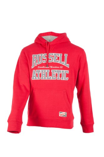 Russell Athletic Sweats (Russell Athletic Herren Sweatshirt Hooded Rot, XL)