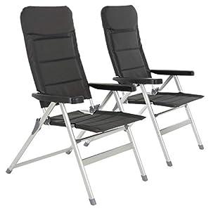 Nexos 2er Set Premium Klappstuhl Relax-Stuhl Campingstuhl Klappsessel – für Garten Terrasse Balkon – klappbarer…