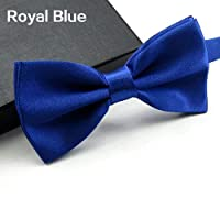 nuiOOui131 Tie Neckwear Cravat Classic Solid Color Bowtie Necktie Tuxedo Wedding Party Men Multicolor Adjustable Bow Tie Royal Blue