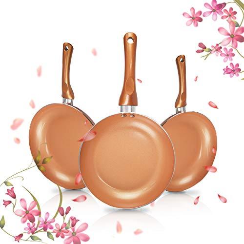 FRUITEAM 3 stücke Kochgeschirr Set Keramik Bratpfanne, Antihaft-Anti-Scratch Pfanne Pan Set, Induktion Pfannenset Pan Set Für Kithchen Cook Food -