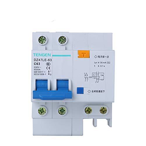 OIASD Interruptor de Aire Interruptor de protección contra Fugas 2P C63A 30mA...