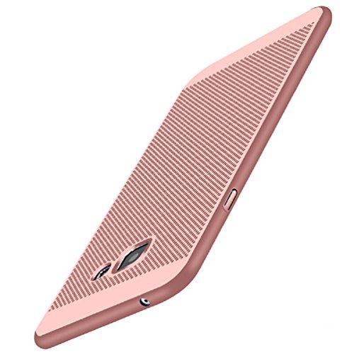 Coque Samsung Galaxy A5(2017),[Dissipation de chaleur],Structure de maille,Anti empreinte digitale,Antidérapant,Mince Lisse Protection Complète Mat Récurer dur Coque Rigide Étui pour Samsung A5(2017)