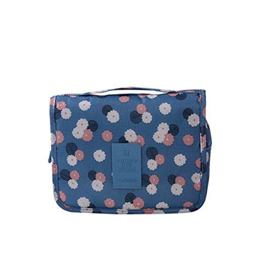 Miaomiaogo Reise-kosmetische Toilettenbeutel-Kasten-bewegliche Aufbewahrungsbeutel-hängende Tasche Blau