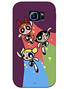 myPhoneMate Powerpuff Girls Trio Designer Printed Hard Matte Mobile Case Back Cover for Samsung Galaxy S6 Edge