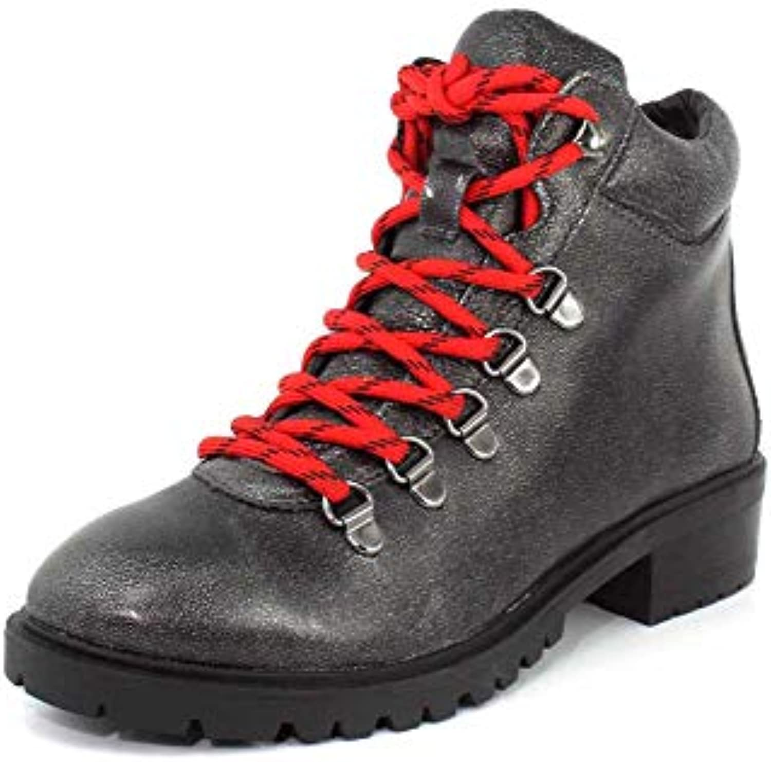 Steve Madden Madden Madden Wouomo Lora Pewter Leather 7 M US M | Outlet Online  | Gentiluomo/Signora Scarpa  04482c