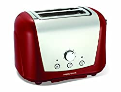 Red: Morphy Richards 222254 Accents Two Slice Toaster - Red