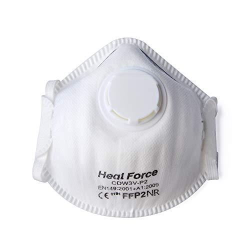 Heal Force FFP3 Atemschutzmasken, getestet mit Filter, Feinstaubmaske, wiederverwendbar, Atemschutz