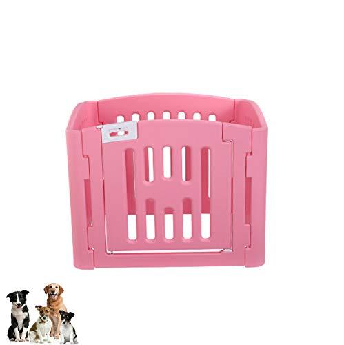 WTTTTW Hund Stift PE Material Zaun Tor, tragbare Outdoor RV Play Yard, außerhalb Haustier große Laufstall Übung Indoor Puppy Kennel Käfig Kiste Gehäuse,Pink -