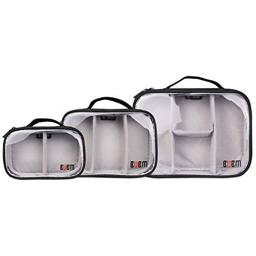 Galleria fotografica Bubm Electronics accessori organizzatore cavo adattatore power bank batteria da viaggio valigetta riporre gli anti-shock borsa impermeabile, multifunzione Triple set l + m + S