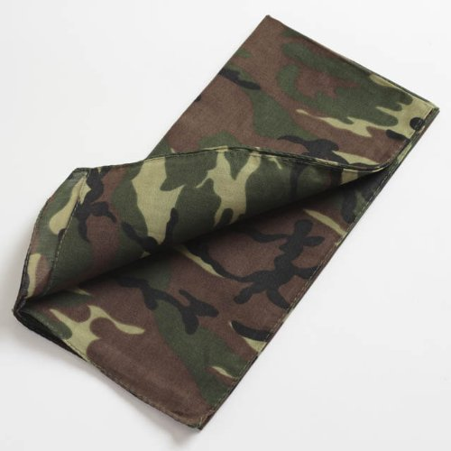 Boys Green Camouflage Bandanna IN8331 by Accessories