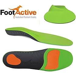 FootActive SPORT - Plantillas de alto impacto para deportes, ocio, trabajo y diversión, talla 39 - 41 (S)