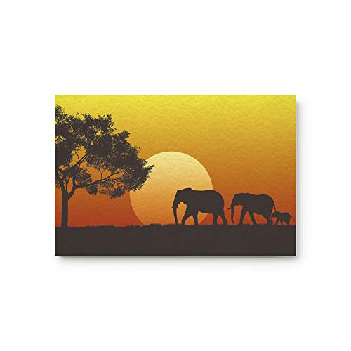 ALAGO Afikanische Fußmatte mit Elefanten-Motiv, Rutschfeste Gummi-Rückseite, dekorative Matten für den Innen- und Außenbereich, Terrasse, Schlafzimmer, Badezimmer, Küche 20