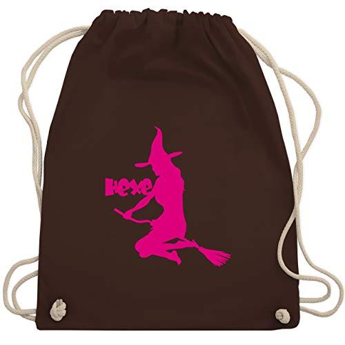 Halloween - Hexe auf dem Besen - Unisize - Braun - WM110 - Turnbeutel & Gym Bag
