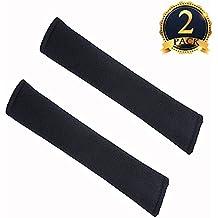 Tougo Universal Almohadillas Para Cinturón de Seguridad - de Dos Piezas(Negro)