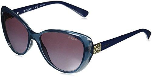Vogue 0vo5193sb 25348h, occhiali da sole donna, blu (opal light blue/violetgradient), 57
