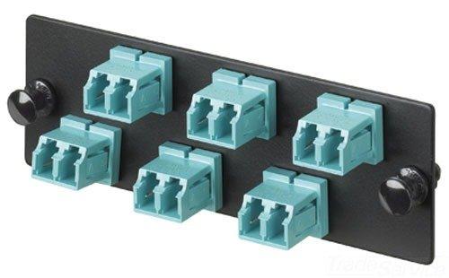 6 Port Panel (Panduit fap6waqdlc Multimode 6-port Faser Adapter Panel mit Phosphor Bronze Split Ärmel, aqua)