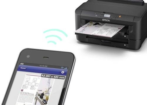 Epson WorkForce WF-7110DTW A3 Duplex Business Printer with Front-loading Tray, Wi-Fi, Ethernet and Double-sided Printing - Black
