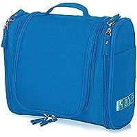 PETRICE Multifunctional Travel Bag Extra Large Makeup Organiser with Hook (Blue)
