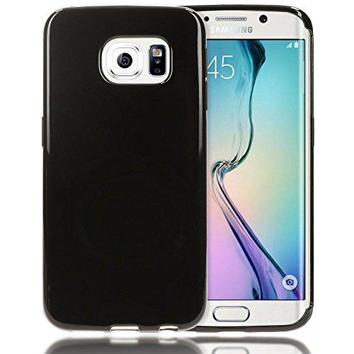 Samsung Galaxy S6 Edge Hülle Handyhülle von NICA, Ultra-Slim Silikon Case, Dünne Crystal Schutzhülle, Etui Handy-Tasche Back-Cover Bumper, TPU Gummihülle für Samsung-S6 Edge - Transparent / Türkis Schwarz